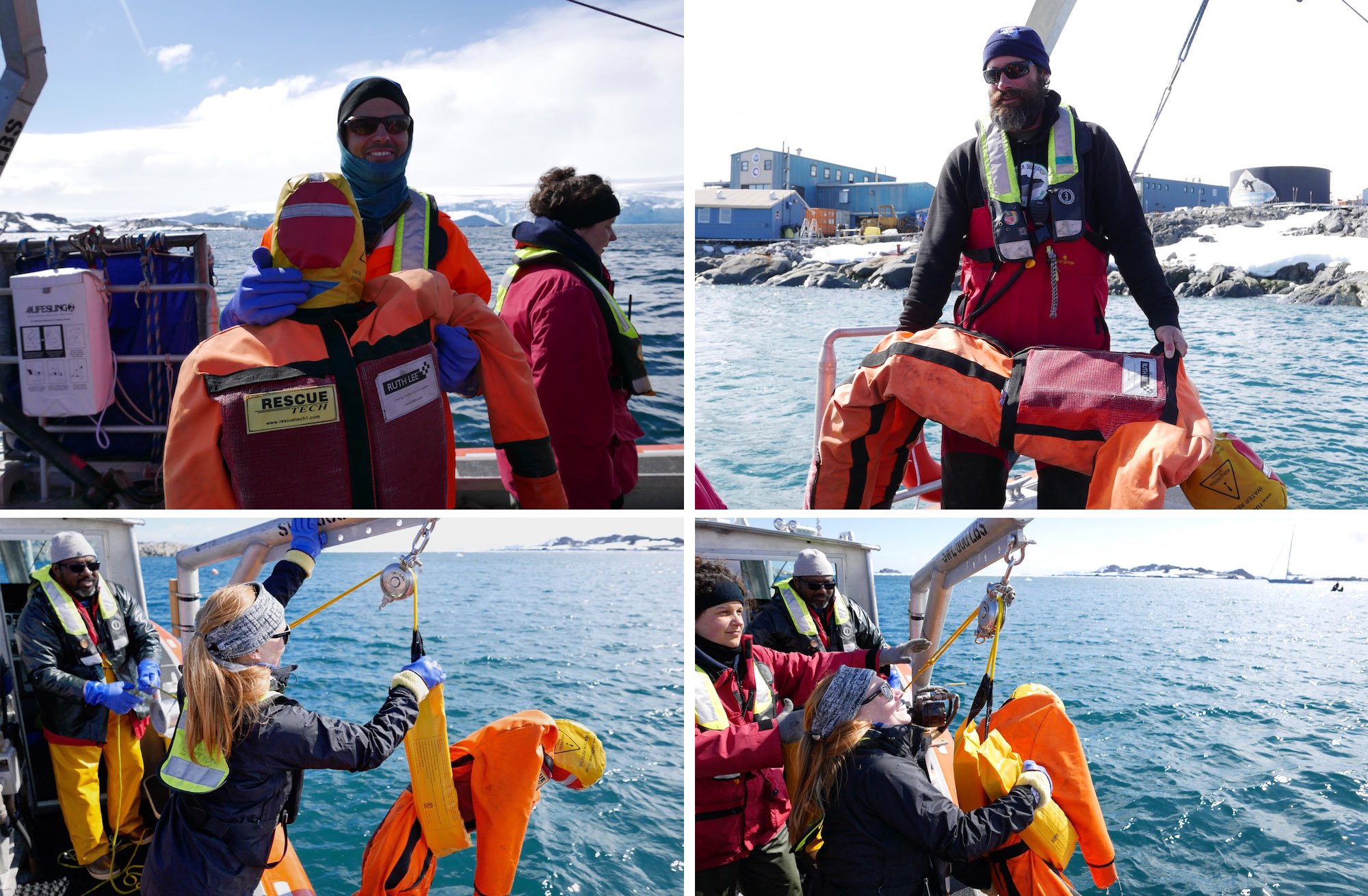 Man/woman overboard drill
